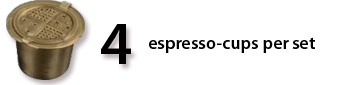 4 refillable espresso cups for Nespresso
